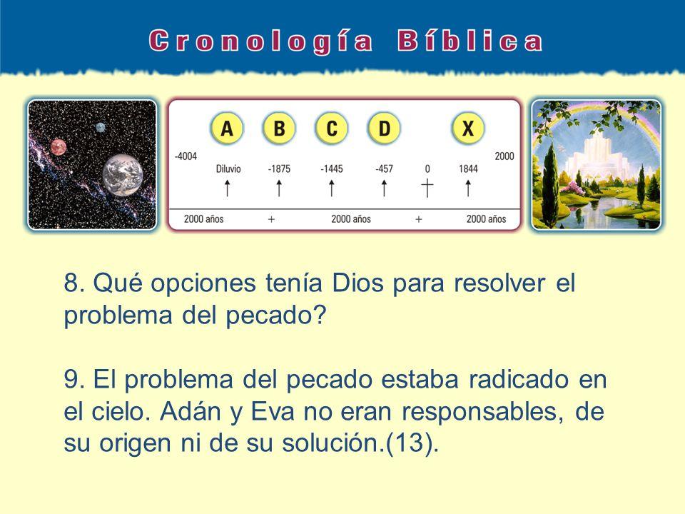 8. Qué opciones tenía Dios para resolver el problema del pecado