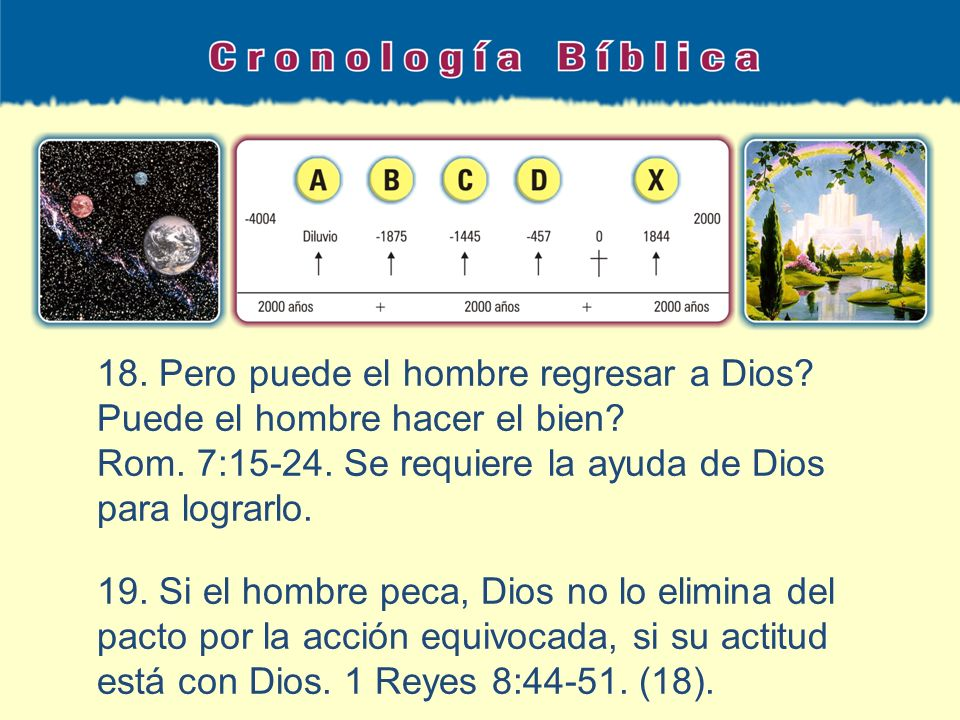 18. Pero puede el hombre regresar a Dios Puede el hombre hacer el bien