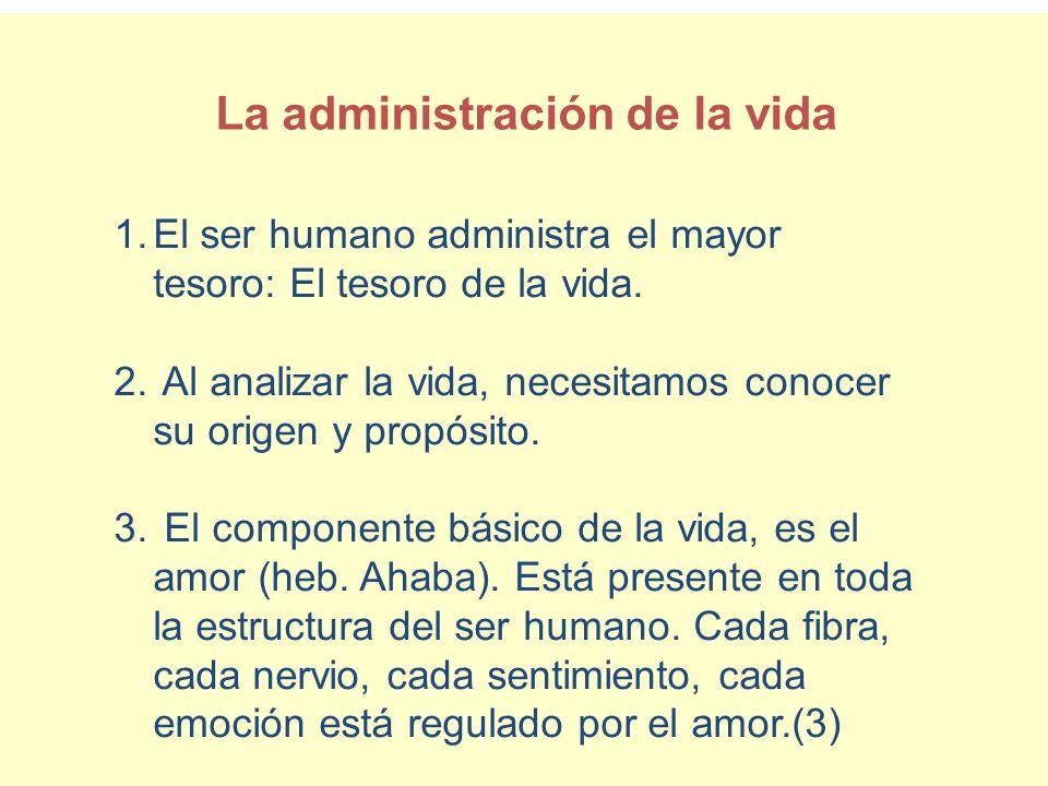 La administración de la vida