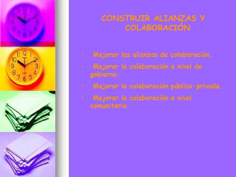 CONSTRUIR ALIANZAS Y COLABORACIÓN