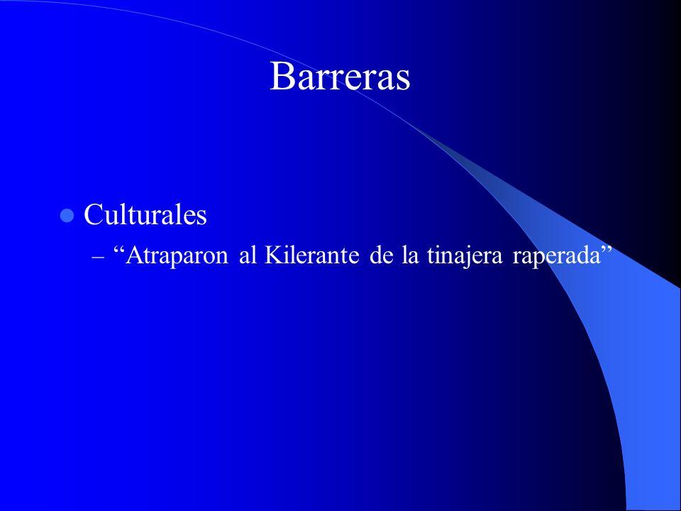 Barreras Culturales Atraparon al Kilerante de la tinajera raperada