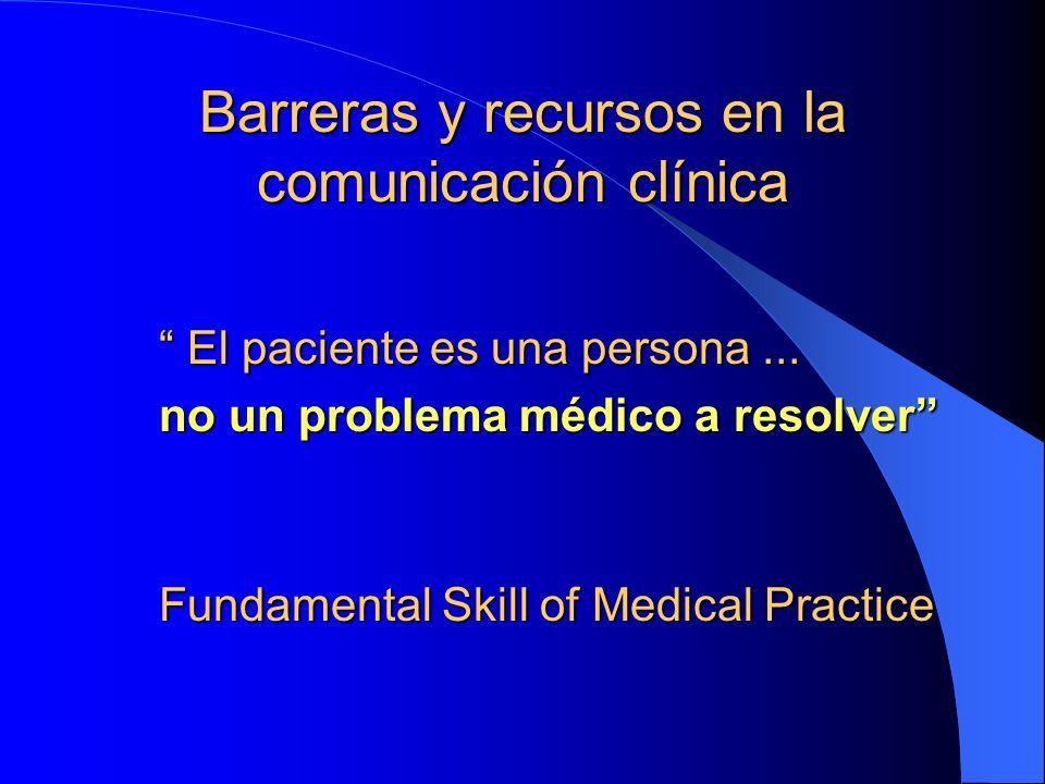 Barreras y recursos en la comunicación clínica