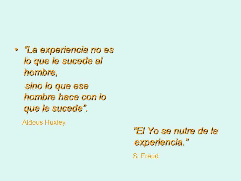 La experiencia no es lo que le sucede al hombre,