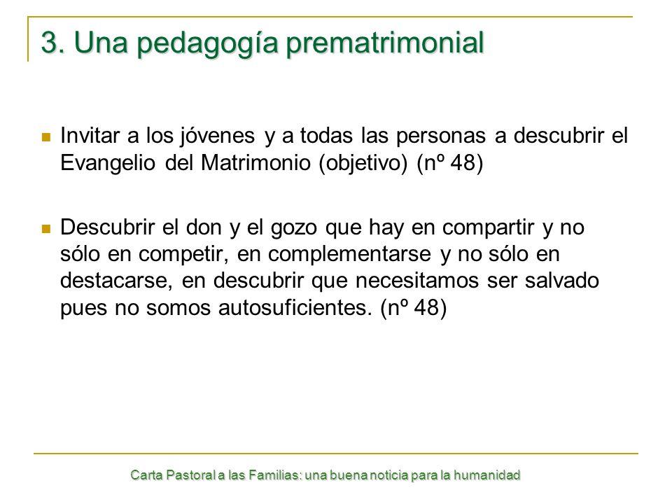 3. Una pedagogía prematrimonial