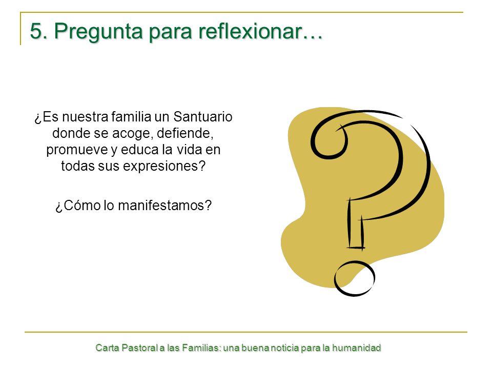 5. Pregunta para reflexionar…