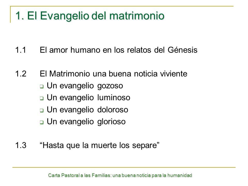 1. El Evangelio del matrimonio