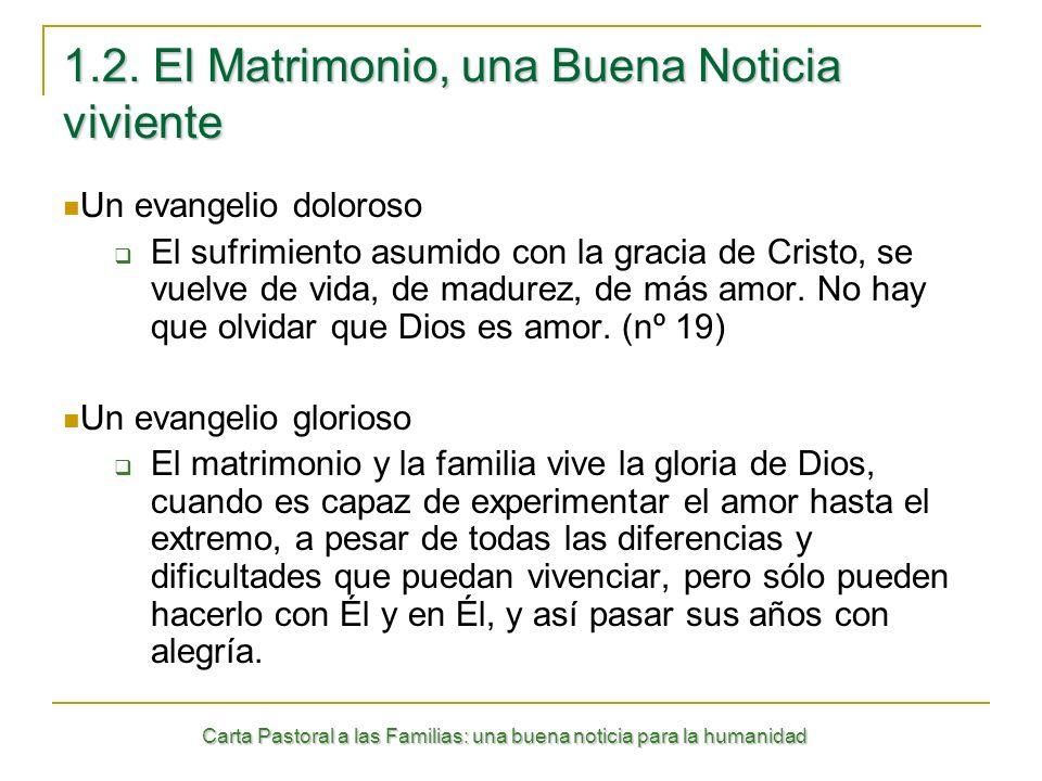 1.2. El Matrimonio, una Buena Noticia viviente