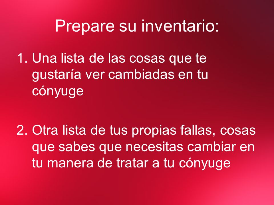 Prepare su inventario: