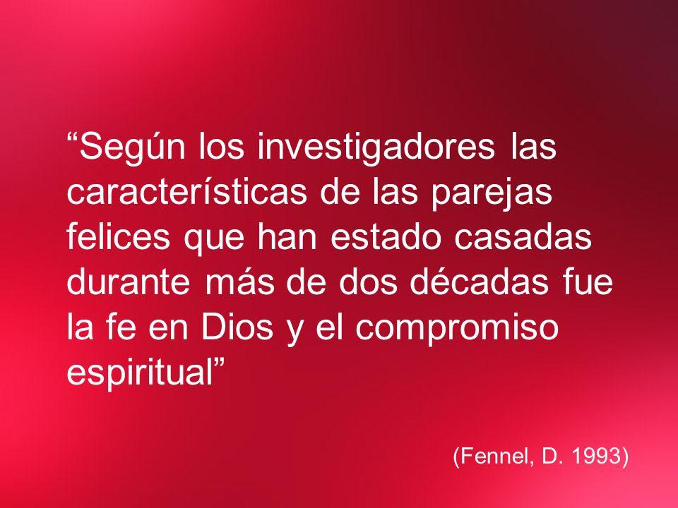 Según los investigadores las características de las parejas felices que han estado casadas durante más de dos décadas fue la fe en Dios y el compromiso espiritual