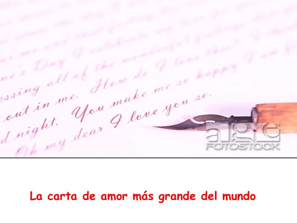 La carta de amor más grande del mundo