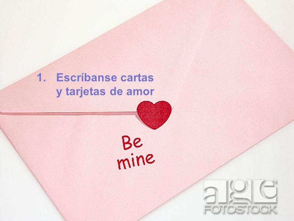 Escríbanse cartas y tarjetas de amor