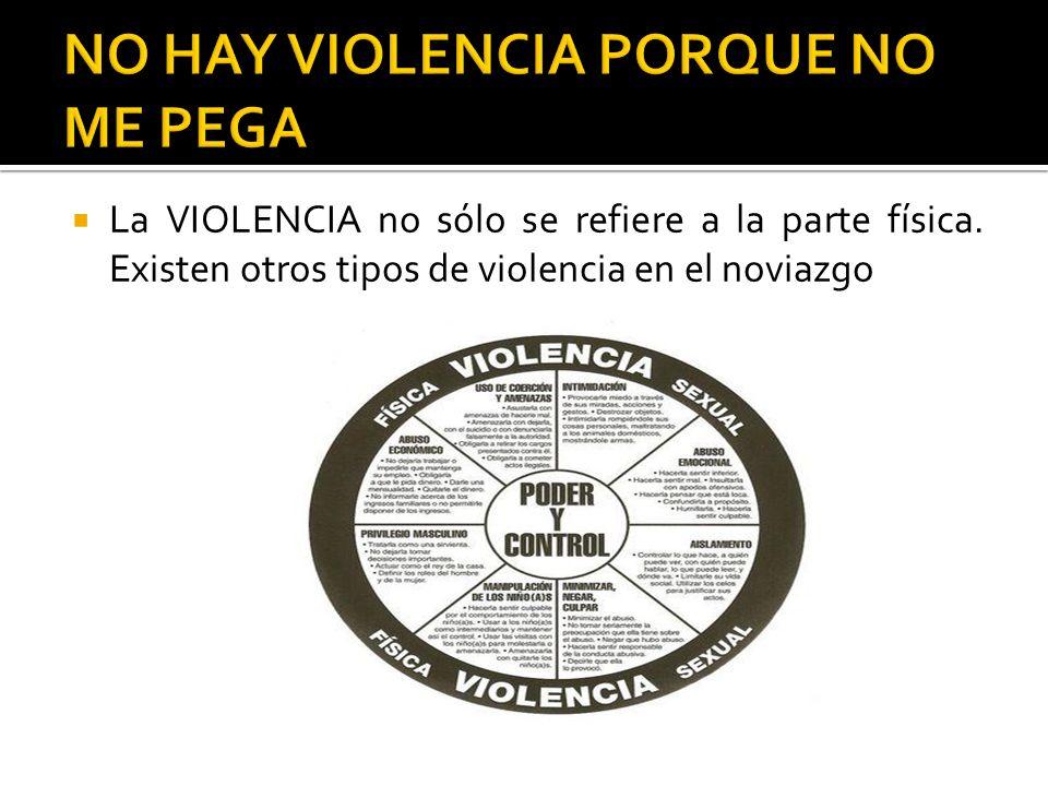 NO HAY VIOLENCIA PORQUE NO ME PEGA