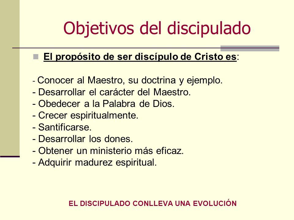 Objetivos del discipulado