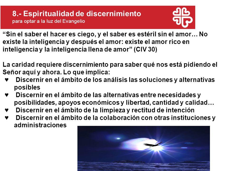 8.- Espiritualidad de discernimiento