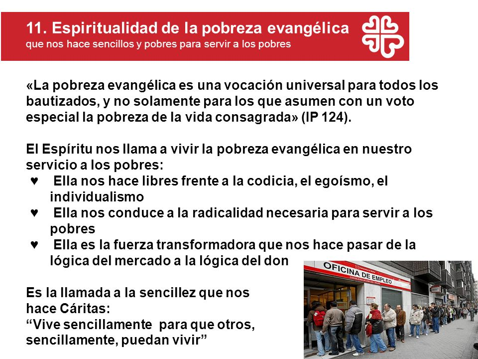 11. Espiritualidad de la pobreza evangélica