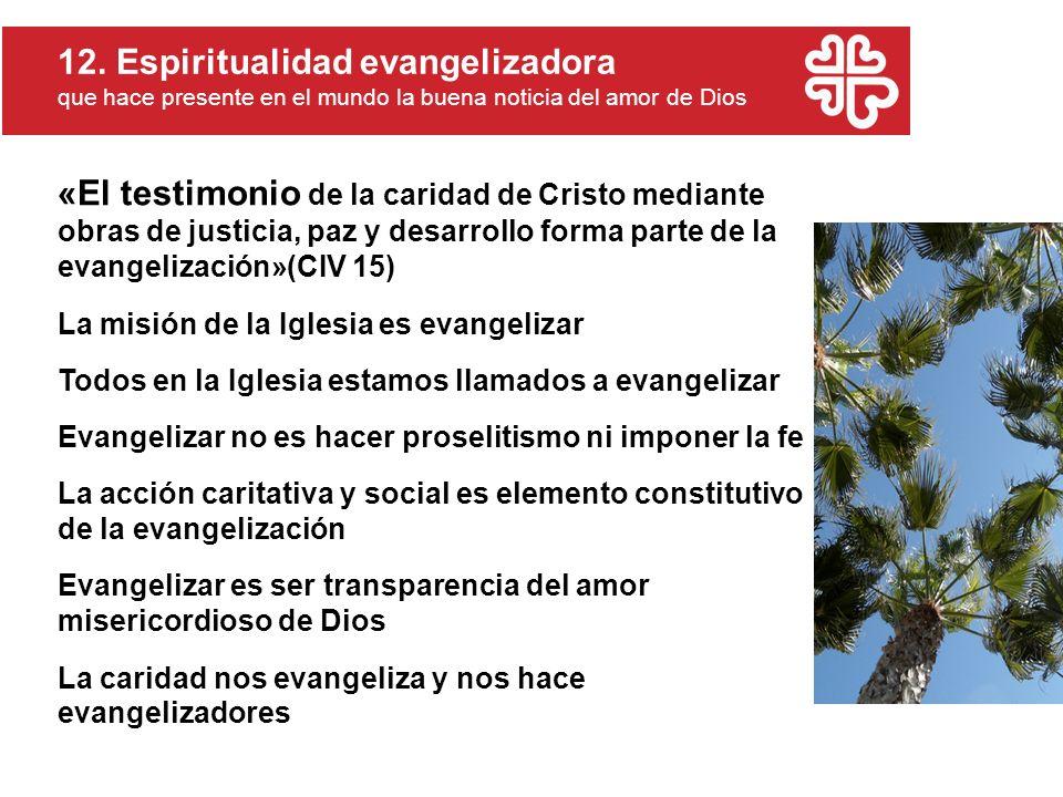 12. Espiritualidad evangelizadora