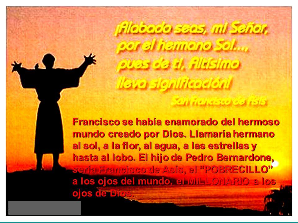 Francisco se había enamorado del hermoso mundo creado por Dios