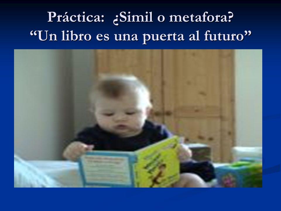 Práctica: ¿Simil o metafora Un libro es una puerta al futuro