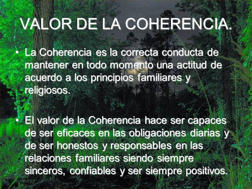 VALOR DE LA COHERENCIA.