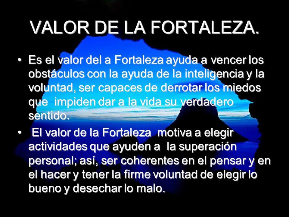 VALOR DE LA FORTALEZA.