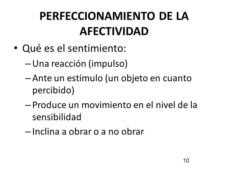 PERFECCIONAMIENTO DE LA AFECTIVIDAD