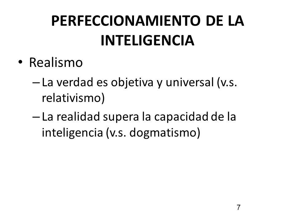 PERFECCIONAMIENTO DE LA INTELIGENCIA