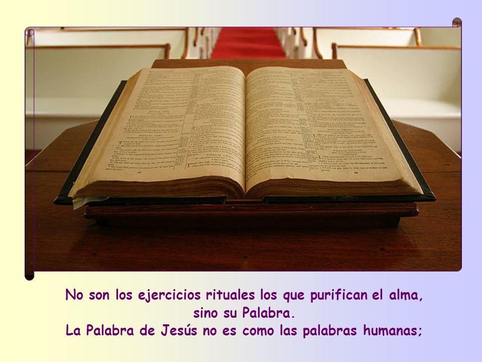 La Palabra de Jesús no es como las palabras humanas;