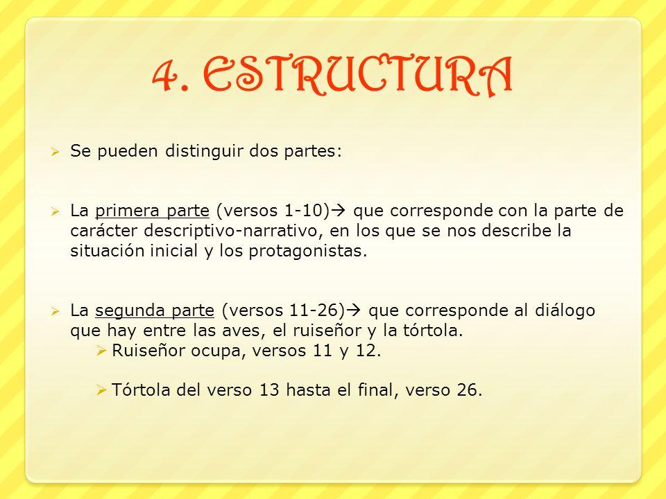 4. ESTRUCTURA Se pueden distinguir dos partes: