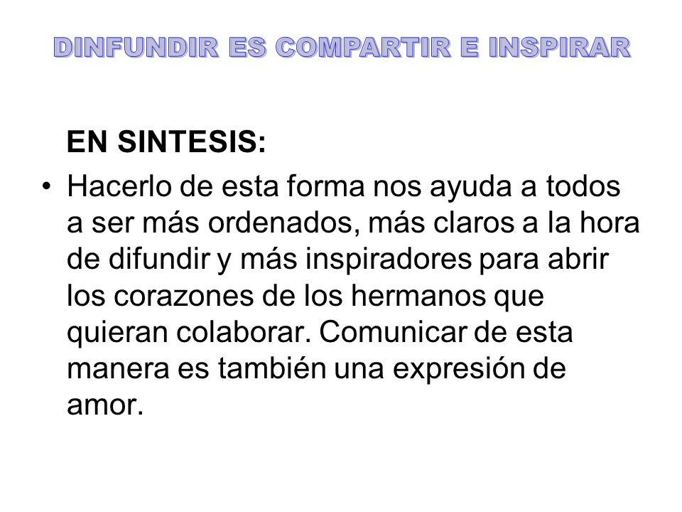 DINFUNDIR ES COMPARTIR E INSPIRAR