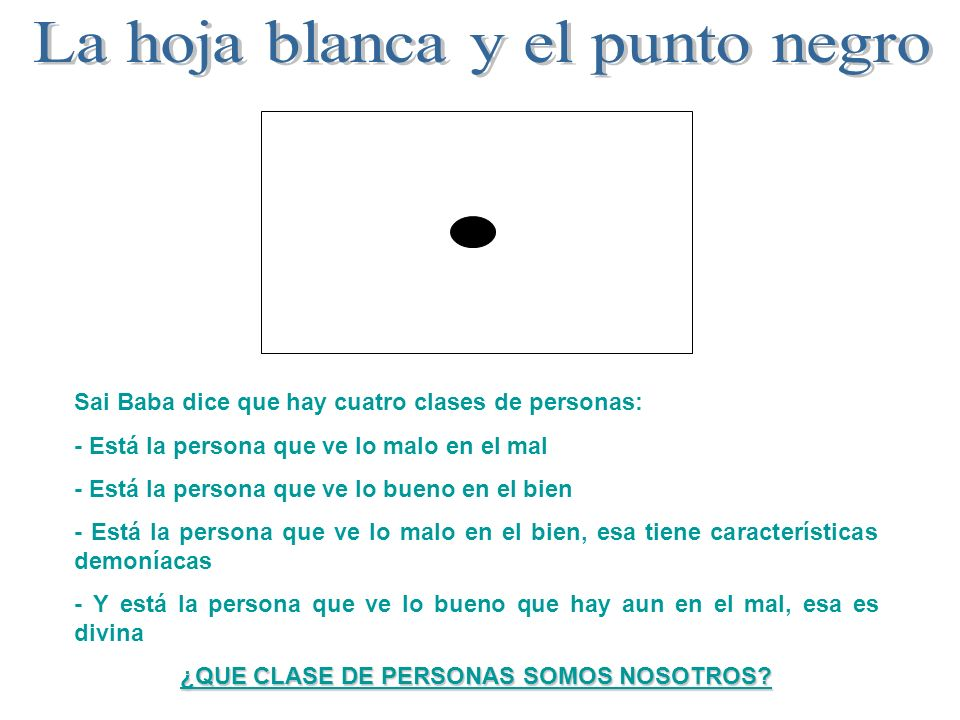 ¿QUE CLASE DE PERSONAS SOMOS NOSOTROS