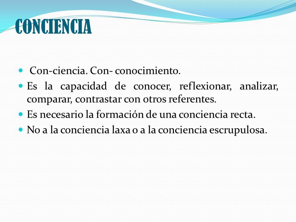 CONCIENCIA Con-ciencia. Con- conocimiento.