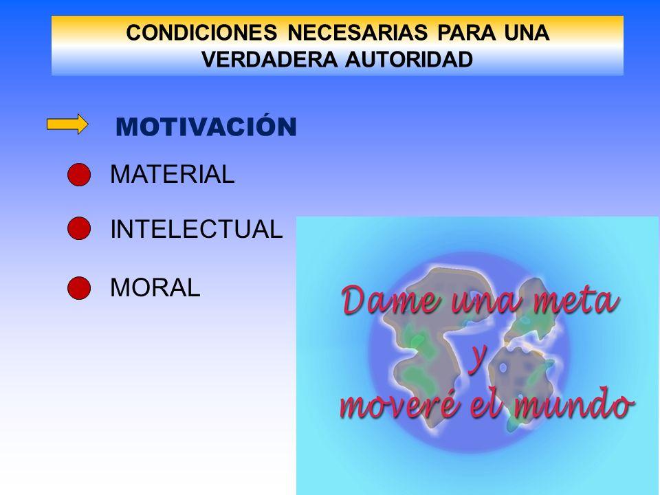 CONDICIONES NECESARIAS PARA UNA VERDADERA AUTORIDAD