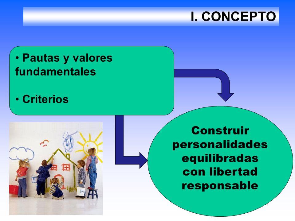Construir personalidades equilibradas con libertad responsable
