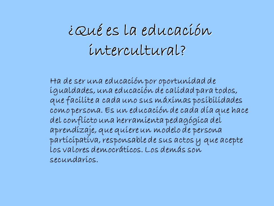¿Qué es la educación intercultural