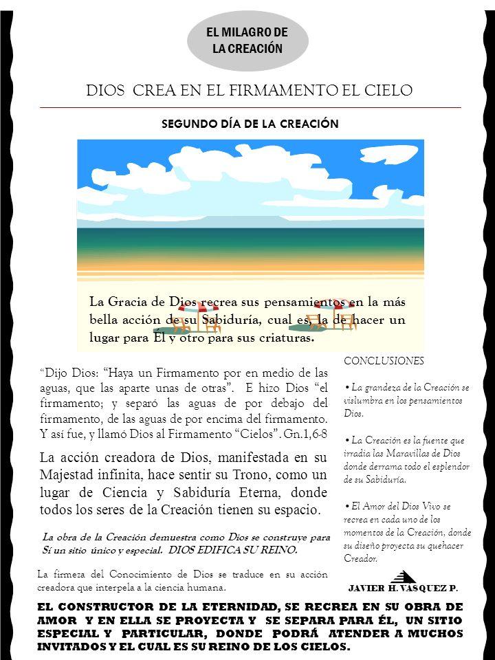 SEGUNDO DÍA DE LA CREACIÓN