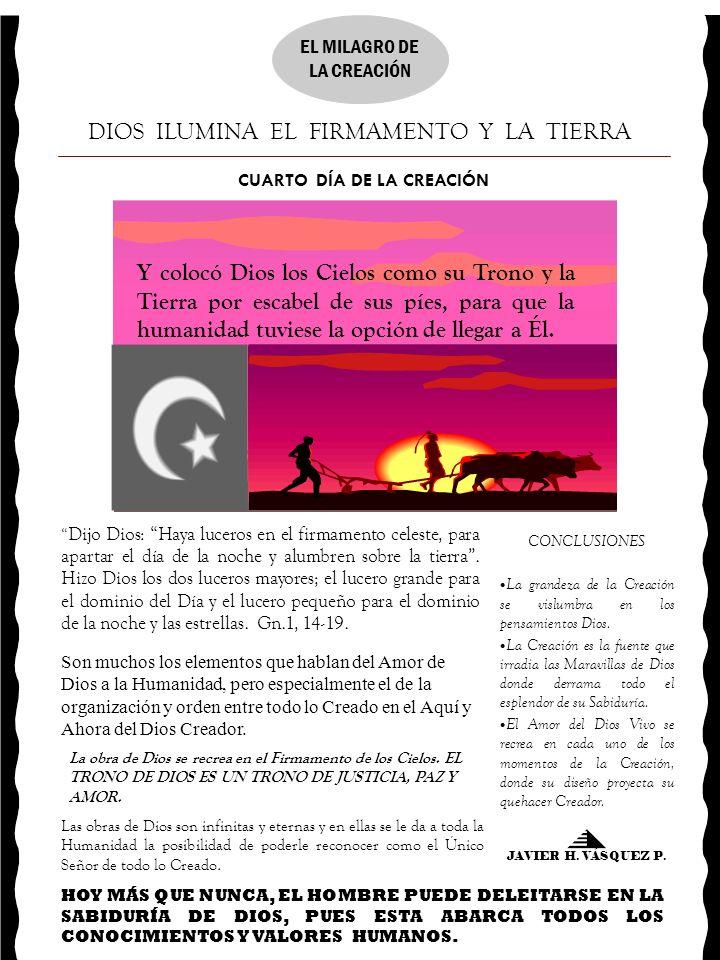 CUARTO DÍA DE LA CREACIÓN