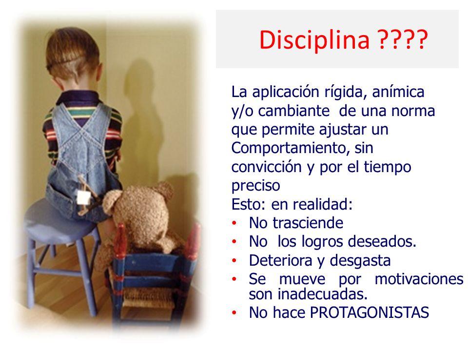 Disciplina La aplicación rígida, anímica