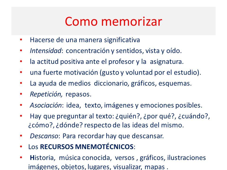 Como memorizar Hacerse de una manera significativa