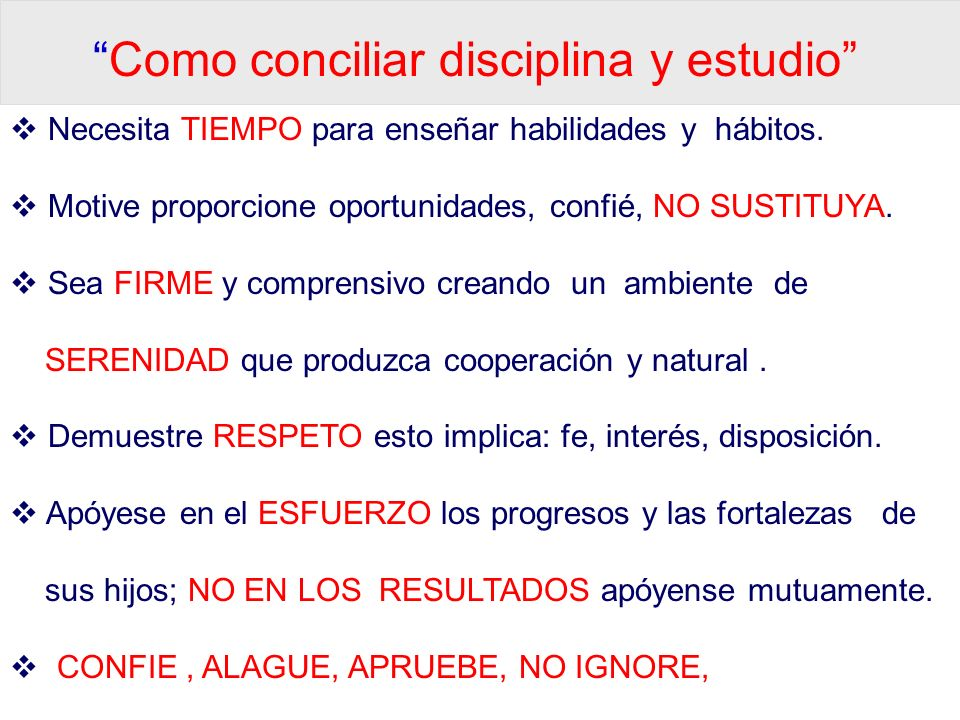 Como conciliar disciplina y estudio