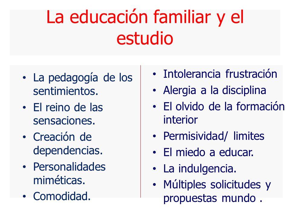 La educación familiar y el estudio