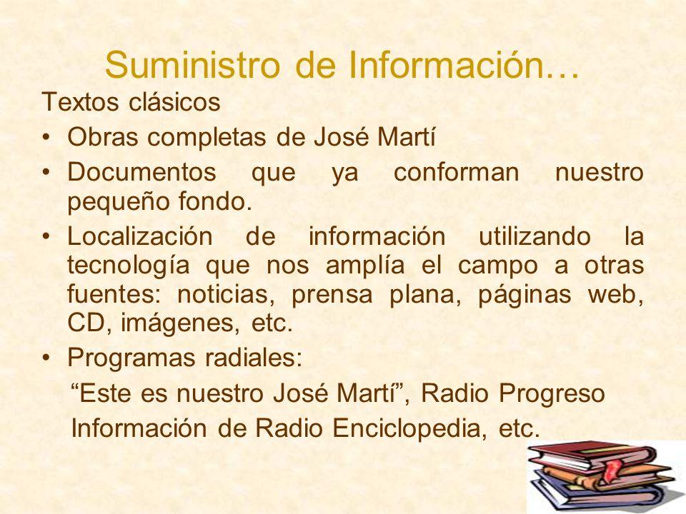 Suministro de Información…