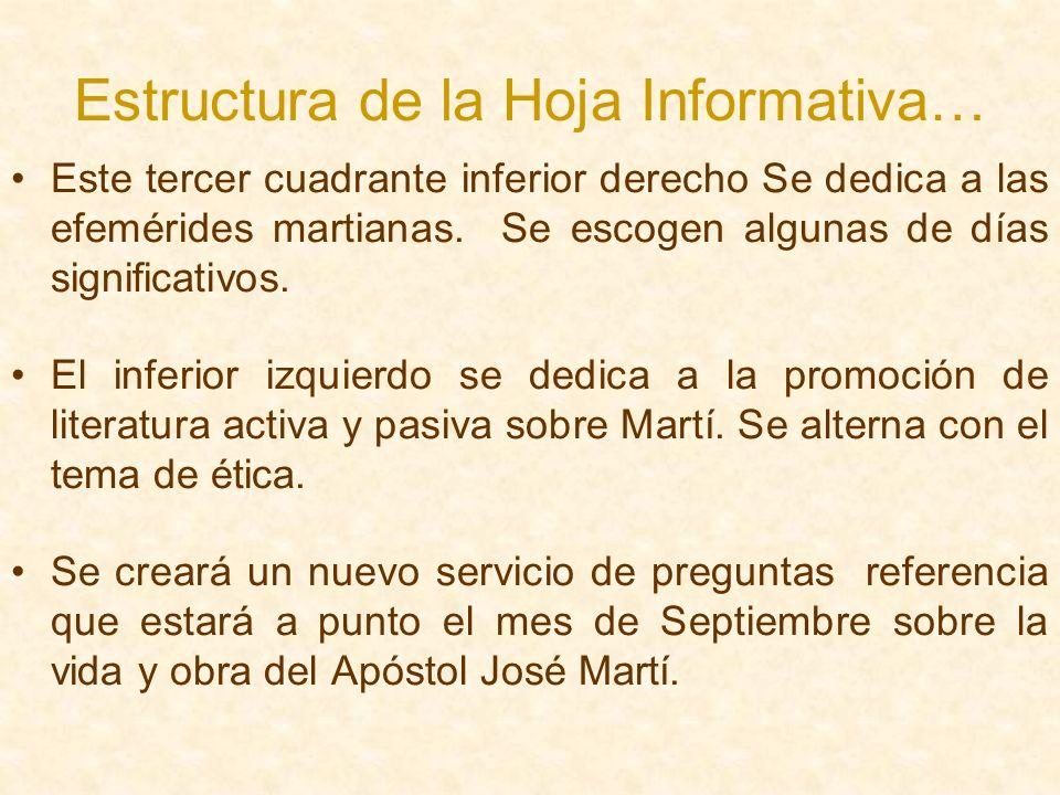 Estructura de la Hoja Informativa…