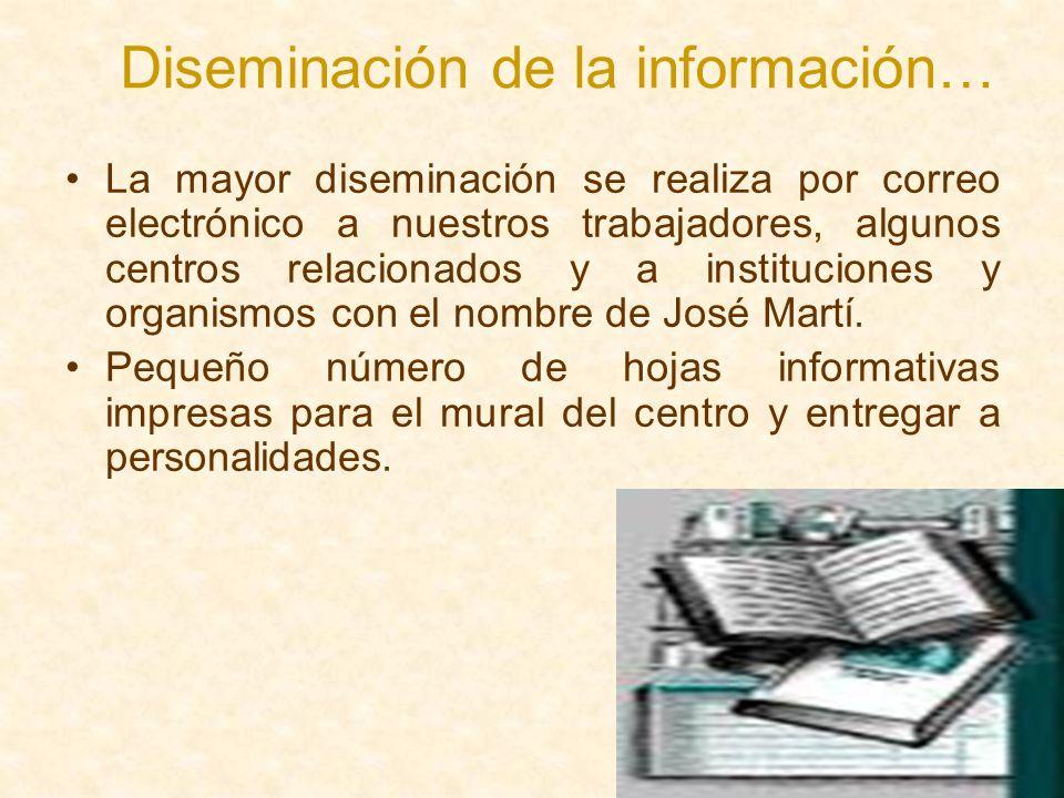 Diseminación de la información…