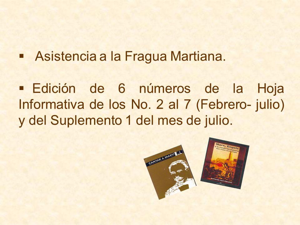 Asistencia a la Fragua Martiana.