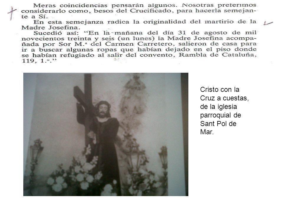 Cristo con la Cruz a cuestas, de la iglesia parroquial de Sant Pol de Mar.