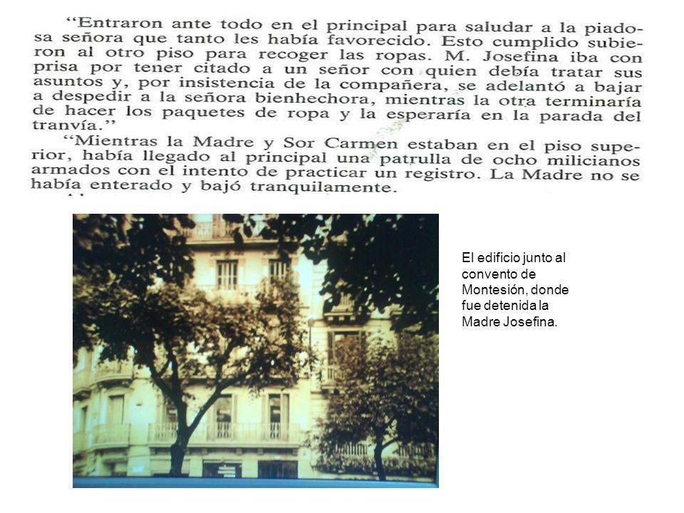El edificio junto al convento de Montesión, donde fue detenida la Madre Josefina.