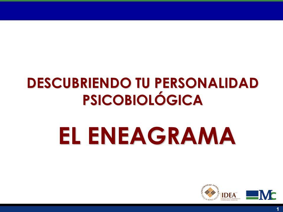 DESCUBRIENDO TU PERSONALIDAD PSICOBIOLÓGICA