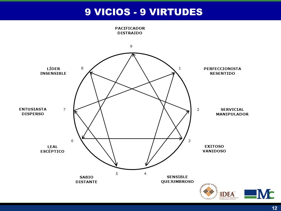 9 VICIOS - 9 VIRTUDES SERVICIAL MANIPULADOR PERFECCIONISTA RESENTIDO