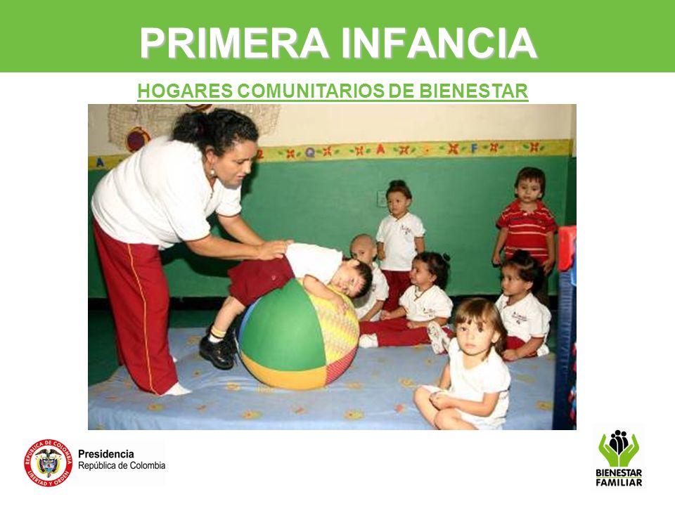 PRIMERA INFANCIA HOGARES COMUNITARIOS DE BIENESTAR