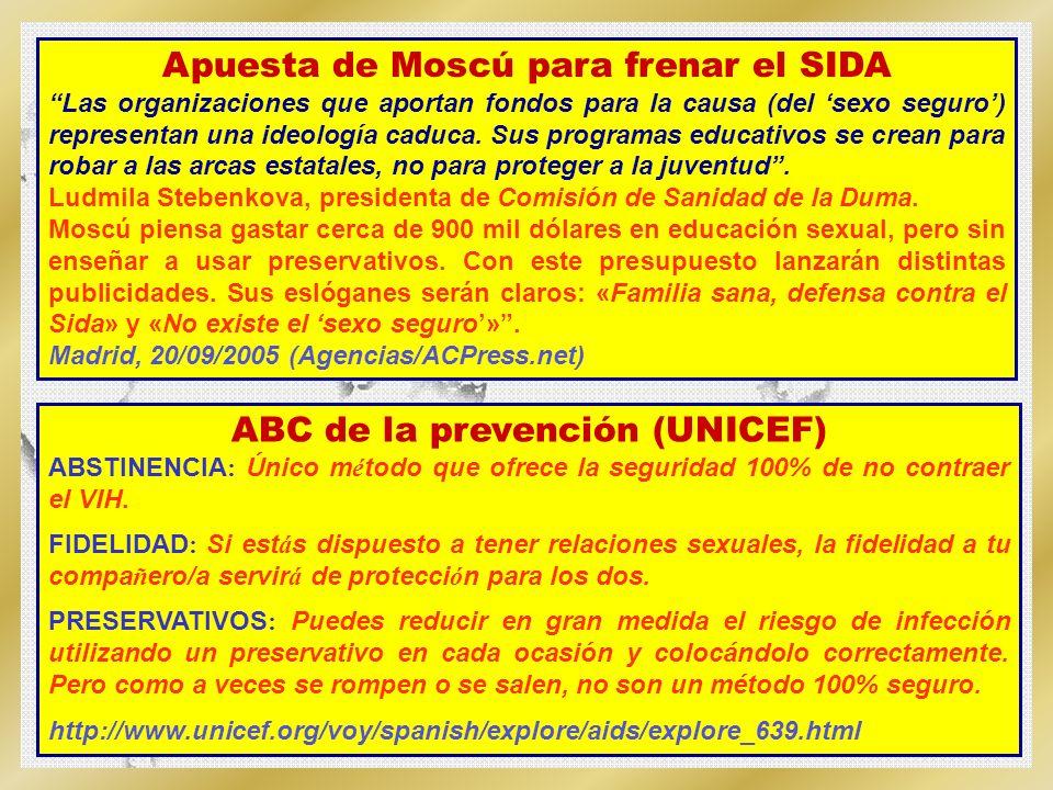 Apuesta de Moscú para frenar el SIDA ABC de la prevención (UNICEF)